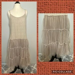 Beautiful Tulle Layering Tank Dress New Sz XXL